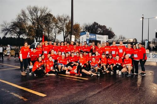 One of our favorites is our partnership with the Mankato Marines for the Mankato Marathon.