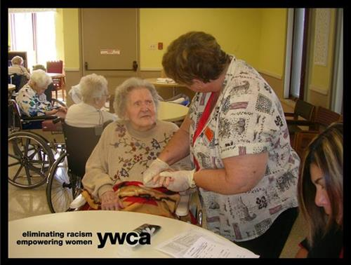 RSVP Volunteer assisting at the McLean County Nursing Home