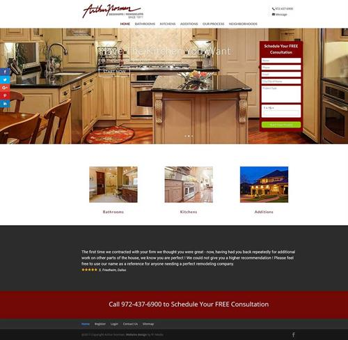 Web Design Richardson TX - Arthur Norman Remodeling