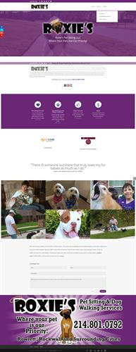 Web Design Rowlett TX - Roxies Pet Sitting