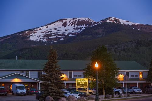 Old Town Inn with Mountain Backdrop
