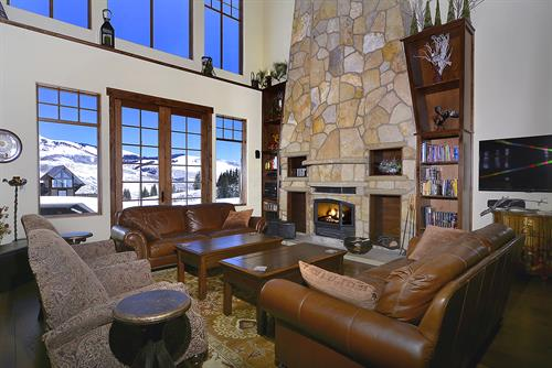 Winter nights by the fireplace