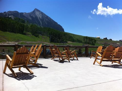 Mountain Time Chairs (our doutdoor line) offers Crested Butte Mountain Resort its signaure lodge look.