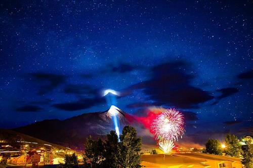 Fireworks on Mt CB