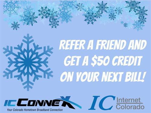 Refer a friend and get a $50 bill credit!  Call for details (970) 641-055