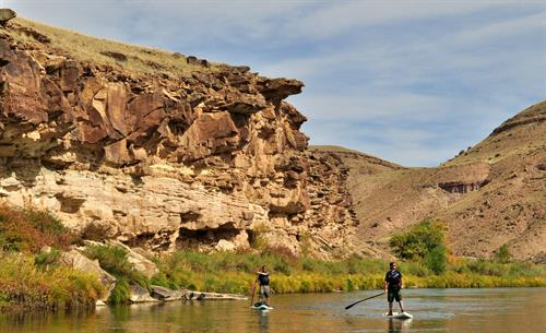 Calm water on the Gunnison River