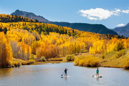 Spectacular autumn SUP