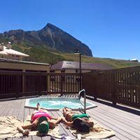 Relaxing during retreat