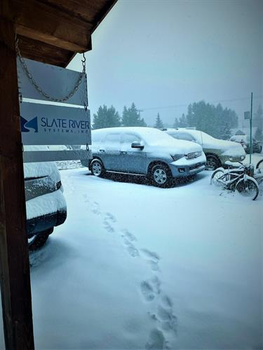 Snowy Office Lot