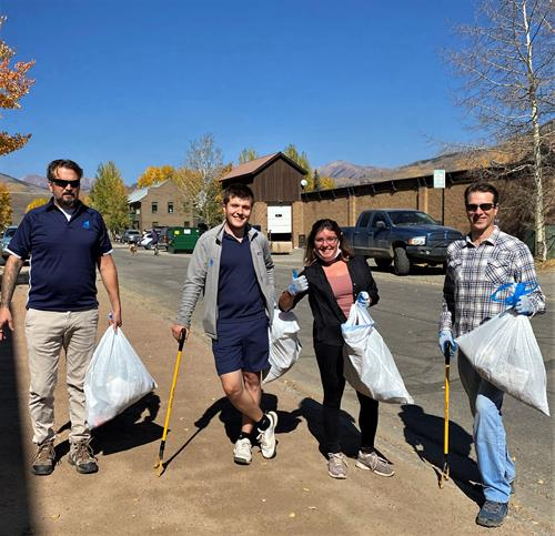 Team Trash Clean Up Day in Town of CB