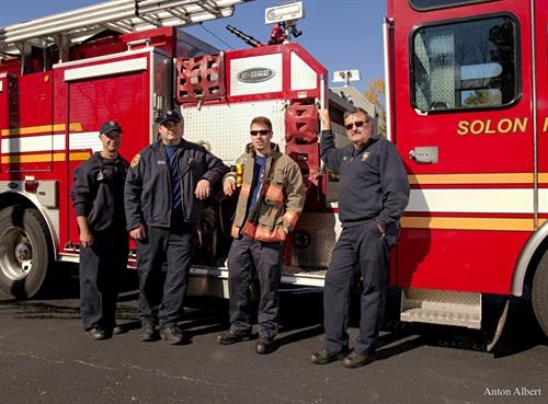 Solon firefighters editorial photo