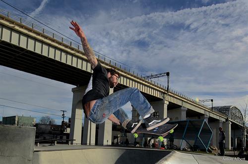 Skateboarding editorial photo
