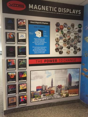 Magnetic Walls for lobbys, retail or situations where you want to have the ability to promote changes from  Last Chance offerings to sales discounts. A layered magnet wall is not stagnant and is a great investment.