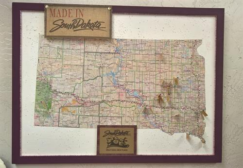 A map of where all our South Dakota vendors are.