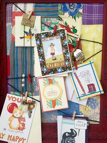 A selection of the cards and South Dakota made gifts we offer.