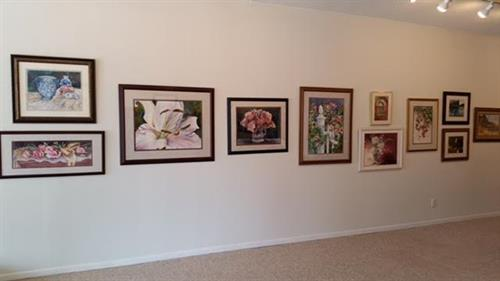 My artwork on dislay st South Dakota Gallery,