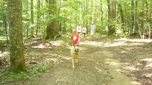 Bob and Carolyn's friends on hiking trail at Big Canoe