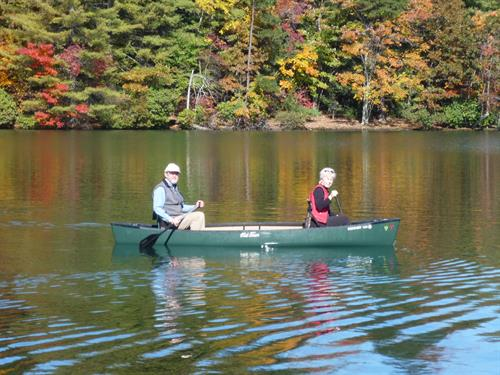 Bob and Carolyn on 106 acre Lake Petit at Big Canoe