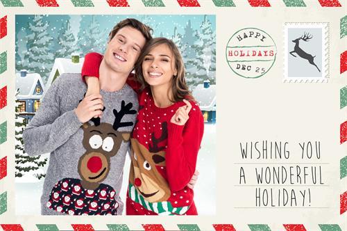 Holiday Postcard Overlay