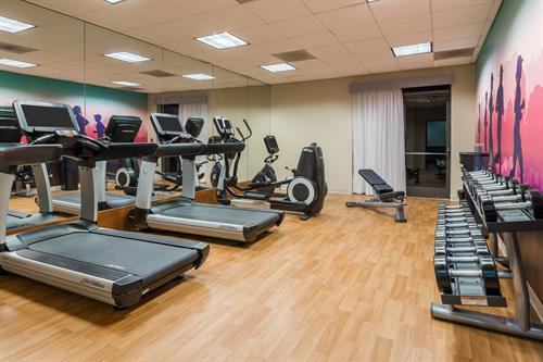 Fitness center available to guests 24 hours