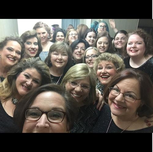 Backstage, getting ready to SING at an event in Cumming!