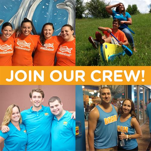 Join Our Crew! Looking for Customer Service Representatives and Swim Teachers! Email swimjohnscreek@goldfishss.com for more info.