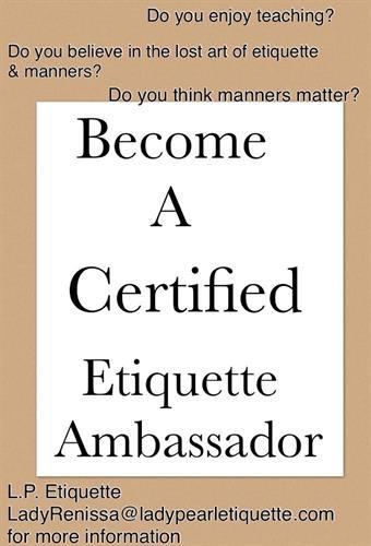 Become A Certified Etiquette Ambassador