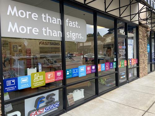 Window graphics are a simple and fun way to elevate your businesses banding