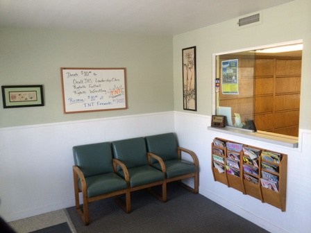waiting room of Santa Maria Chiroprators