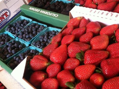 An up close and personal look at some of our delicious berries!