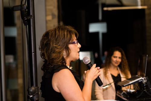 Founder, Michelle Shipman Addresses the Crowd at the 5-Year Anniversary Celebration in 2015