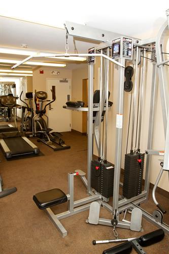 Never miss a workout while traveling!  Enjoy our well appointed, complimentary fitness center