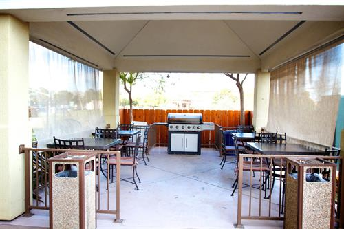 Enjoy the California Central Coast weather with our guest patio and gazebo BBQ