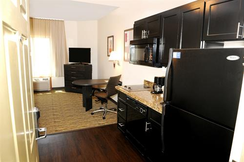 All suites, offering a full kitchen
