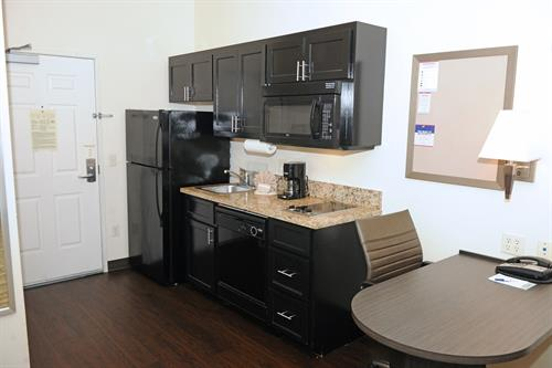 Enjoy your extended stay with a full kitchen in every suite