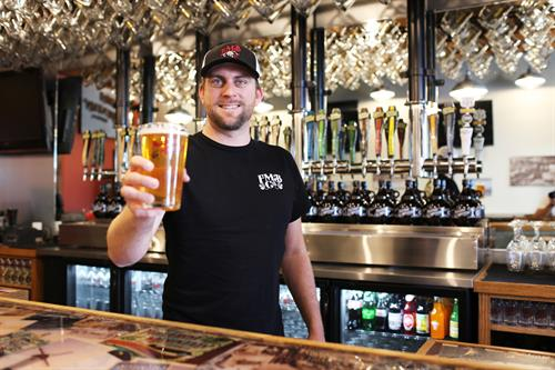 Tony welcomes you to the FigMtnBrew Santa Maria Taproom