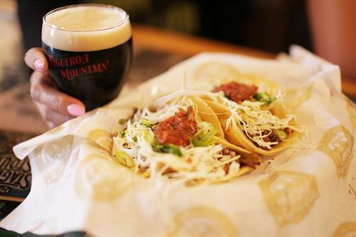 Tri-tip tacos are a house favorite at FigMtnBrew Santa Maria
