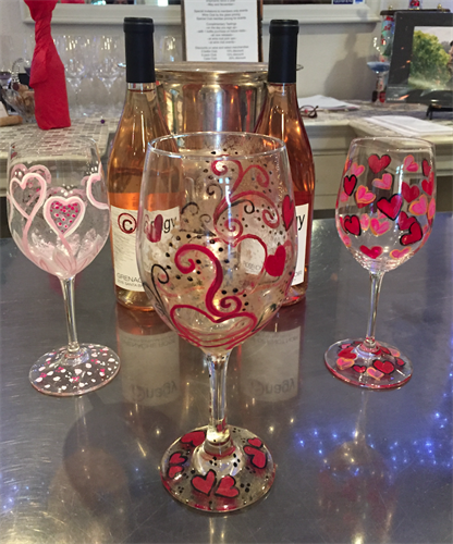 valentine wine glass painting jan 19 2018 santa maria valley chamber of commerce ca - Valentine Wine Glasses
