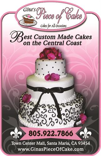 Ad design for Gina's Piece of Cake