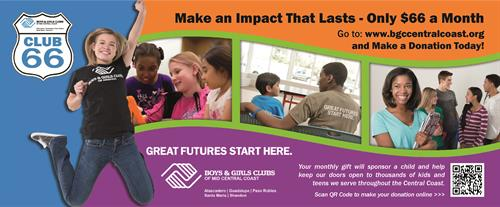 Print postcard for Boys and Girls Club