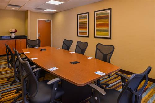 Boardroom available for small meetings, depositions and intimate gatherings