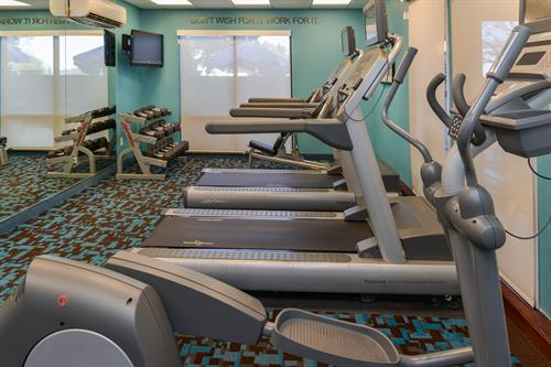 Complimentary & well appointed fitness center available to hotel guests