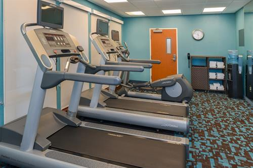 Keep your fitness routine on track while traveling with our well appointed fitness center