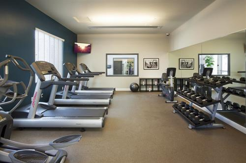 Ditch your gym membership and enjoy our 24 hour fitness center!