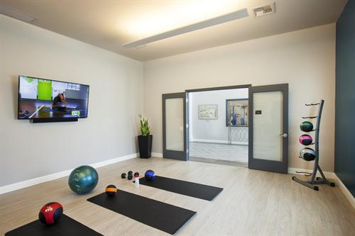 Yoga pilates studio, complete with Fitness on demand program!