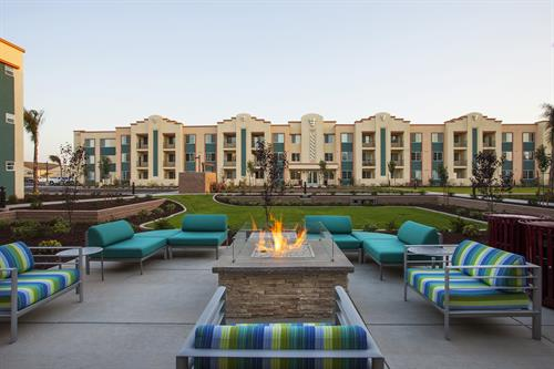 Enjoy the beautiful central coast weather at our outdoor lounge areas!