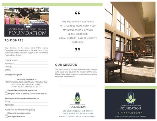 Information brochure for Library Foundation