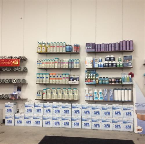 We also carry an assortment spa chemicals and accesorries