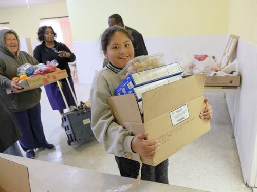 Monthly food distriution helps everyone
