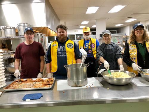 Cooking & serving dinner at Good Samaritan Homeless Shelter